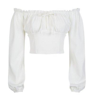 White Milkmaid Blouse