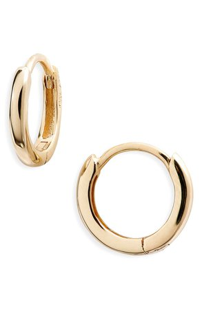 Bony Levy Essentials 14K Gold Huggie Hoop Earrings (Nordstrom Exclusive) | Nordstrom