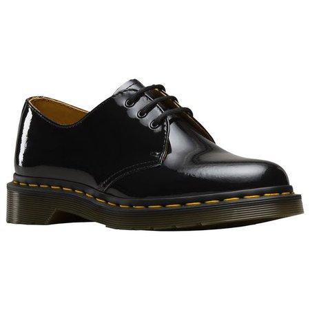 Dr Martens 1461 Платье Обувь - Черный Патент Лампа / Страна Наряд