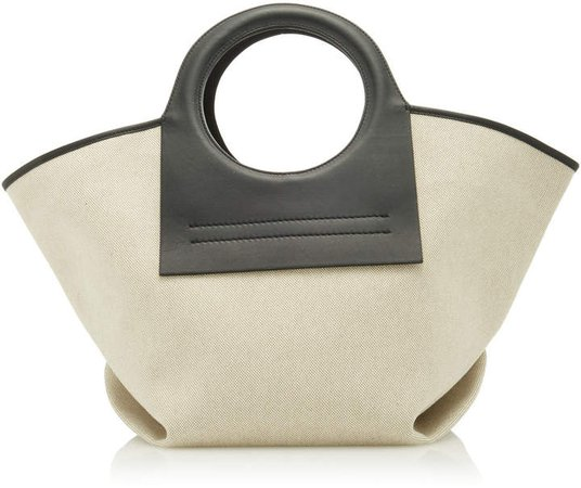 Hereu Cala Small Leather-Trimmed Canvas Tote