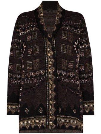 Etro geometric-pattern Knit Cardigan - Farfetch