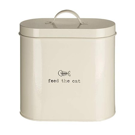 Premier Housewares Adore Pets Feed The Cat Food Storage Bin with Spoon, 2.8 L - Cream: Amazon.ca: Home & Kitchen