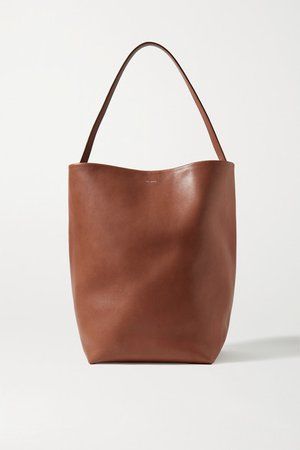 N/s Park Leather Tote - Sand