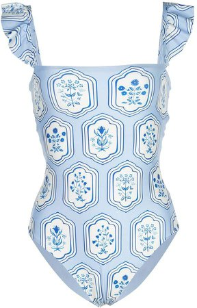 Agua By floral print swimsuit