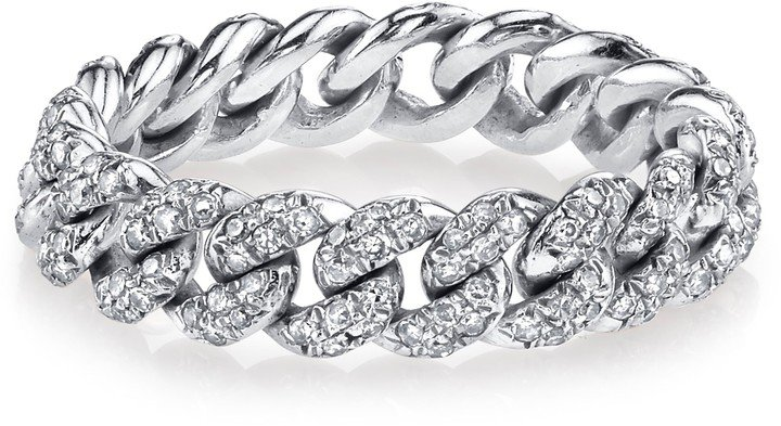 Pave Diamond Mini Link Ring