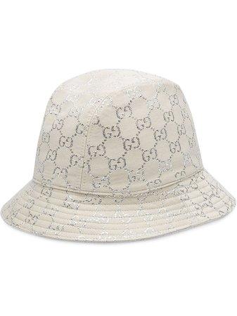 Gucci Metallic logo-jacquard Bucket Hat - Farfetch