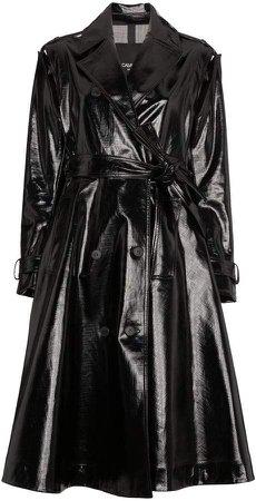 vinyl trench coat