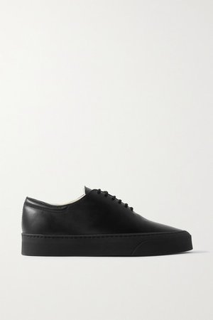 Marie H Leather Sneakers - Black