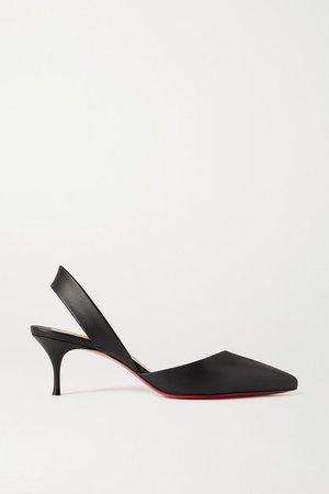Viola 55 Leather Slingback Pumps - Black