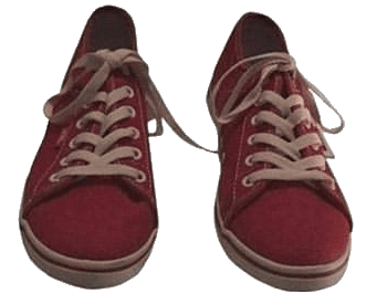 red sneakers