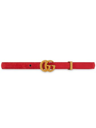 Gucci Double G Suede Belt