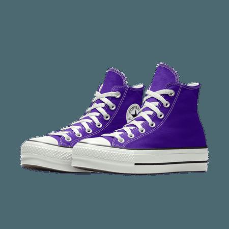 Purple Custom Canvas Platform Chuck Taylor All Star By You
