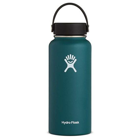Amazon.com: Hydro Flask Water Bottle - Stainless Steel & Vacuum Insulated - Wide Mouth with Leak Proof Flex Cap - 32 oz, Cobalt: Kitchen & Dining