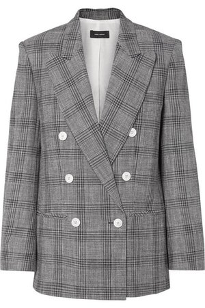 Isabel Marant | Deagan double-breasted checked cotton-blend blazer | NET-A-PORTER.COM