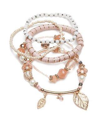 TRUE CRAFT multi stretch beaded bracelet set
