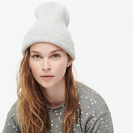 J.Crew: Ribbed Beanie In Supersoft Yarn For Women
