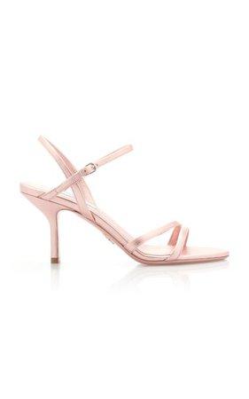 Metallic Leather Sandals By Prada   Moda Operandi
