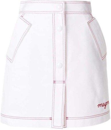 MSGM a-line skirt