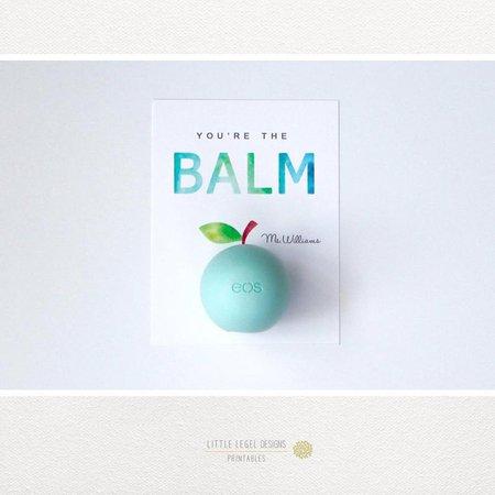 Custom Teacher Gift. You're the Balm. Apple. Teacher | Etsy