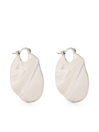 Shop silver Jil Sander textured pendant earrings with Express Delivery - Farfetch