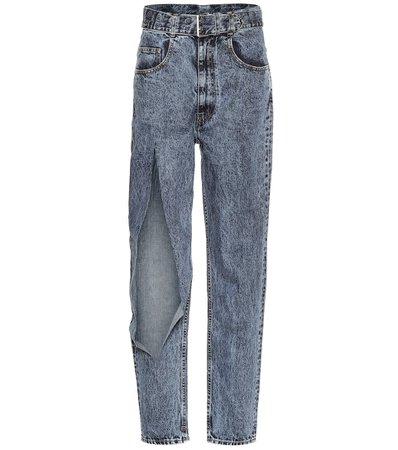 Maison Margiela - Ripped high-rise jeans   Mytheresa