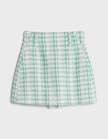 Short skirt with a frayed finish - New - Bershka United States