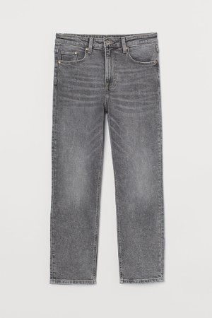 Vintage Slim High Ankle Jeans - Gray