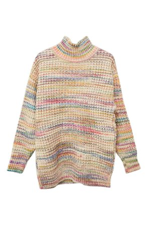 Topshop Space Dye Chunky Turtleneck Sweater | Nordstrom