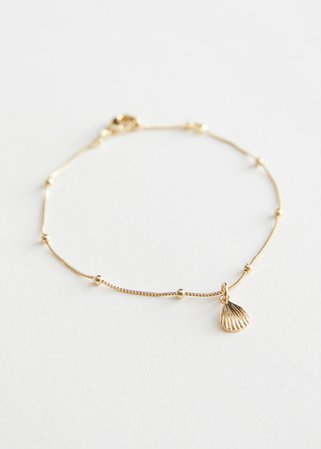 Shell Pendant Chain Bracelet - Gold - Bracelets - & Other Stories