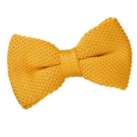 Marigold Yellow Knitted Pre-Tied Thistle Bow Tie - James Alexander