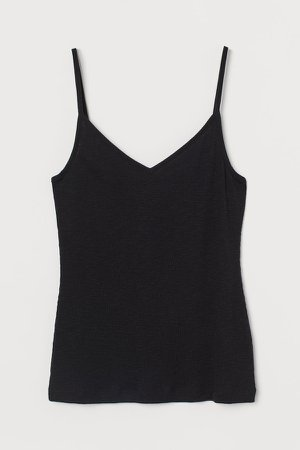 Ribbed Modal-blend Tank Top - Black