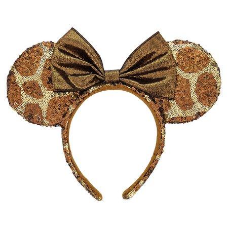 Minnie Mouse Animal Print Ear Headband - Disney's Animal Kingdom | shopDisney