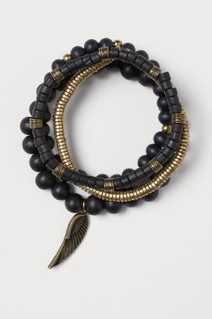 4-pack Bracelets - Black/gold-colored - Men | H&M US