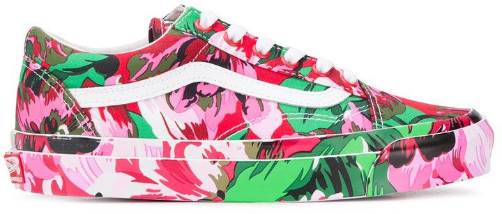 x Vans floral-print Old Skool sneakers