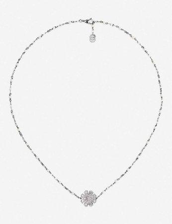 GUCCI - Flora 18ct white-gold necklace | Selfridges.com