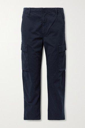 Net Sustain Gaia Cotton-blend Twill Cargo Pants - Navy
