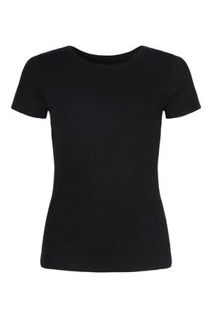Basic Cotton Crew Neck T-Shirt   boohoo