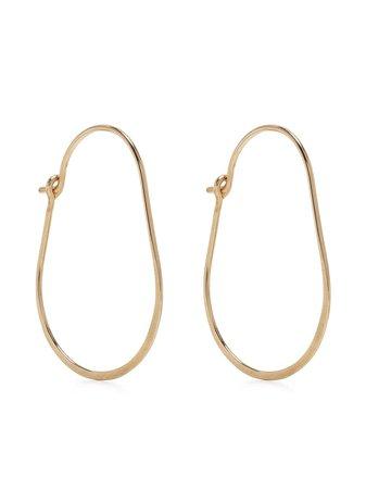 Petite Grand Hammered Oval Hoop Earrings - Farfetch