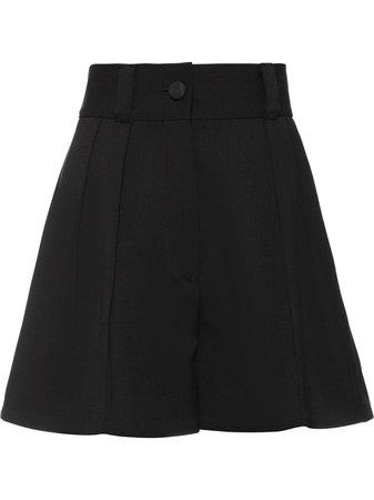 Shop black Miu Miu high waisted tailored shorts with Afterpay - Farfetch Australia