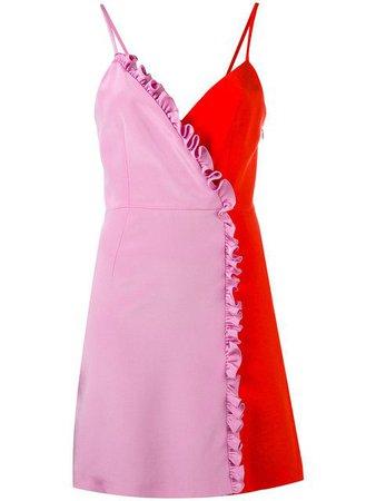 FAUSTO PUGLISI Colour Blocked Mini Dress.