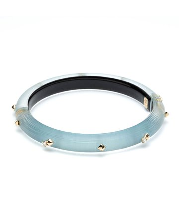 Alexis Bittar Crystal Encrusted Skinny Hinge Bracelet