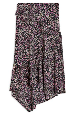 Topshop Ditsy Meadow Ruffle High/Low Skirt | Nordstrom