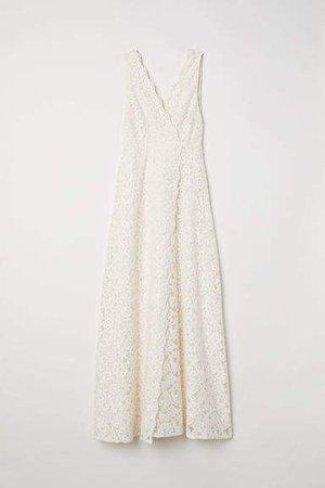 Long Lace Dress - White