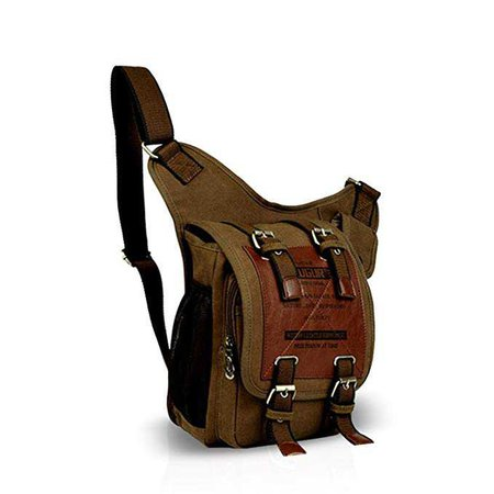 Amazon.com | FANDARE Fashion Shoulder Backpack Cross Body Bag Sling Bag Chest Pack Bag Chest Strap Bag One Strap Sport Bag Backpack Men/Women Cycling Hiking Camping Outdoor Travel Bag Canvas Brown | Casual Daypacks