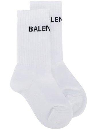 Balenciaga Logo Knit Socks - Farfetch