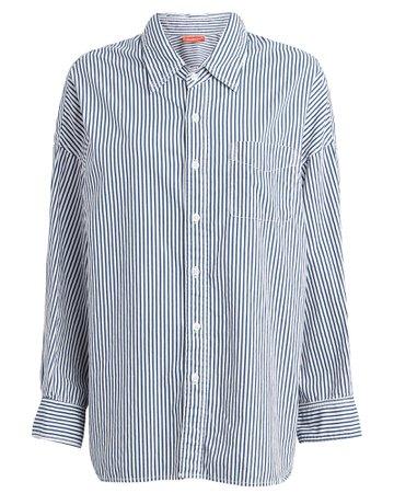 Denimist | Striped Cotton Button Down Shirt | INTERMIX®