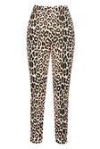 Tapered Leg Trouser In Animal Rib | boohoo brown