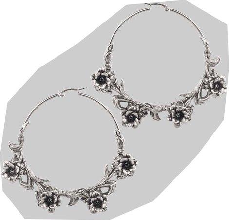 regal rose silver hoop