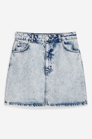 Acid Wash Denim Mini Skirt | Topshop