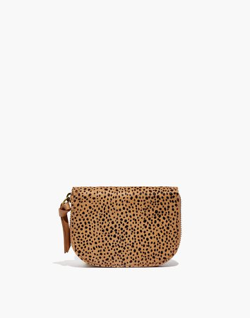 The Zip Wallet in Spotted Calf Hair